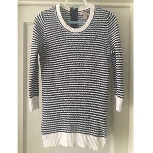 Banana Republic 100% Cotton Navy Stripe Sweater